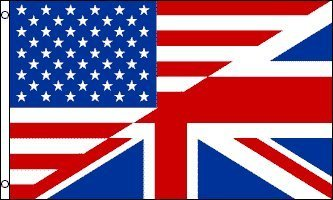 (ENGLISH AMERICAN FLAG, 3'x5')
