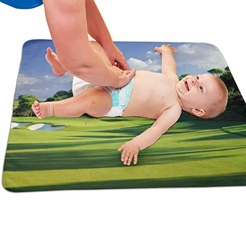 V5DGFJH.B Baby Portable Diaper Changing Pad Golf Course Urinary Pad Baby Changing Mat 31.5