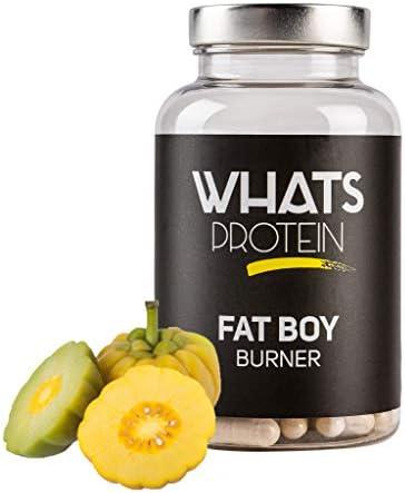 Whats Protein Fatboy Burner, Fatburner mit grünem Tee, Koffein, Chitosan, Garcinia, von Ernährungs-Experten entwickelt...