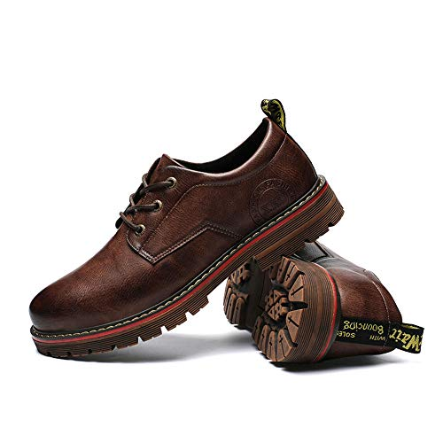 Oxford Yellow Hombre Earthy otoño EU 2018 Marrón Hombre Fang Retro 41 Formales Color Martin shoes Negocios Informal Zapatos tamaño Arte luz Zapatos Invierno wU7pq4gp