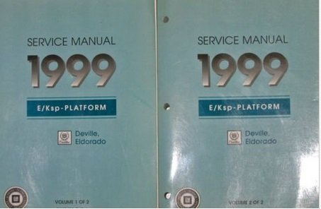 1999 Cadillac DeVille Eldorado Service Shop Repair Manual Set W TRANS UNIT 4 BKS