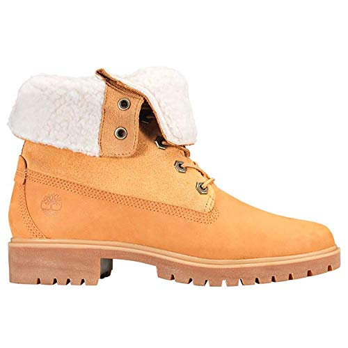 Booties Shoes Casual Down (Timberland Women's Teddy Fleece Fold Down WP Boot,Wheat,7 W US)