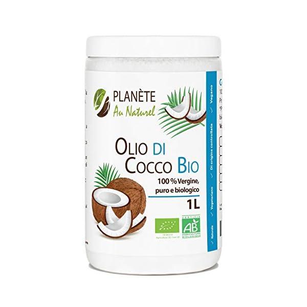 Olio di Cocco Bio - 1L - Extra Vergine 1000ml - Olio di Cocco Bio Nativo e non Raffinato 1L 1 spesavip