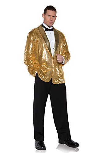 Underwraps Men's Plus-Size Sequin Jacket, Gold, XX-Large