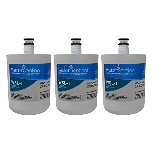 WaterSentinel WSL-1 Refrigerator Replacement Filter: Fits LT-500P LG Filters (3 Pack)