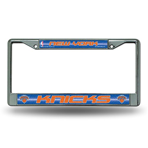 NBA New York Knicks Bling License Plate Frame, Chrome, 12 x