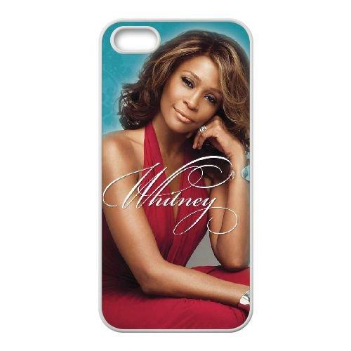 Whitney Houston 004 coque iPhone 4 4S cellulaire cas coque de téléphone cas blanche couverture de téléphone portable EOKXLLNCD20726