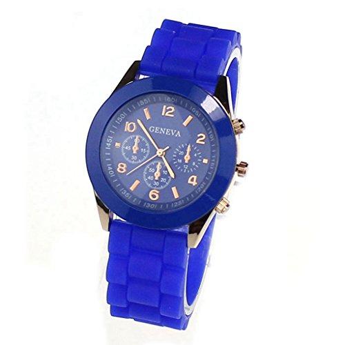 Jelly Sport Wrist Watch (Watch,POTO 2017 New GENEVA Unisex Silicone Rubber Jelly Gel Quartz Analog Sports Women Wrist Watch (Sapphire))