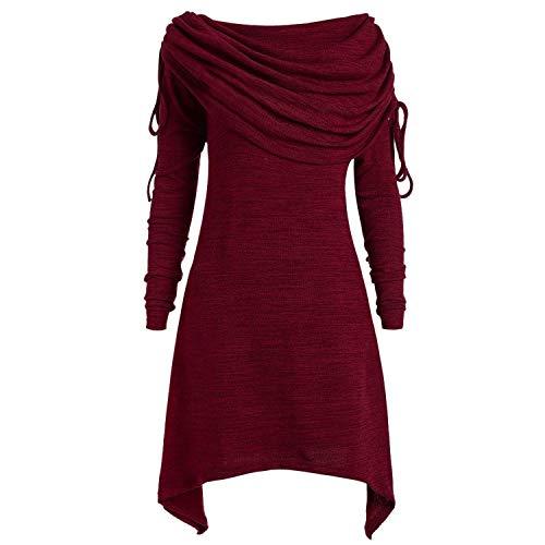 feilongzaitianba Plus Size 5XL Autumn Party Dress Women Clothes Elegant Long Sleeve Ladies Dresses Winter Vintage Dress ()