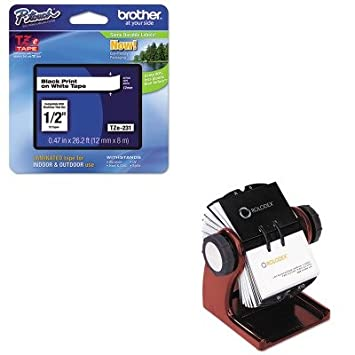 Amazon kitbrttze231rol1734242 value kit rolodex wood tones kitbrttze231rol1734242 value kit rolodex wood tones open rotary business card file holds 400 2 colourmoves