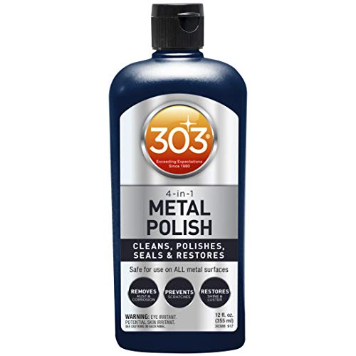 303 Automotive 4-in-1 Polish for All Metal Surfaces (30390), 12 oz