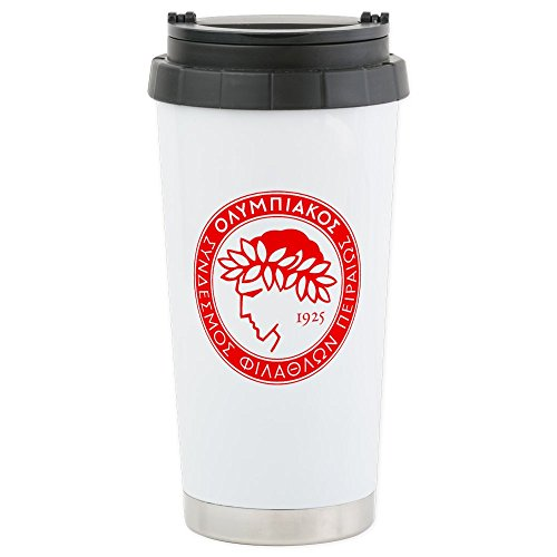 fan products of CafePress - Olympiacos Travel Mug - Stainless Steel Travel Mug, Insulated 16 oz. Coffee Tumbler
