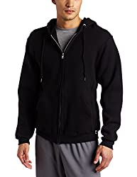 Russell Athletic Men's Dri Power Full Zip Fleece Hoodie, Black, Medium