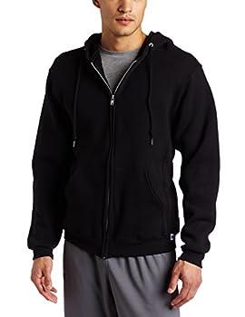Russell Athletic Men's Dri Power Full Zip Fleece Hoodie, Black, Medium 0