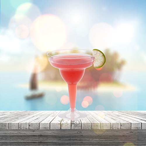 Plastic Margarita Glasses   11.5 oz.  – 50 Pack   Hard Clear Plastic Cocktail Cups   Disposable Party Cups   Large Margarita Glasses   Plastic Cocktail Coupe   Frozen Drink Cups by Prestee (Image #1)