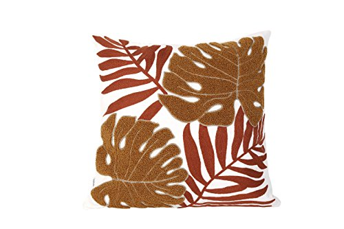 LEOWOO Pillowcase Throw Pillow Cover Three-dimensional Embroidery Modern Natural Plant Leaves Cushion Covers 18