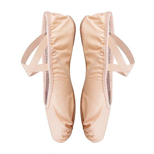 en Schuh Leinwand Split M Kinder flach Verschiedenen Sole Ballett dchen Ballett und Apricot Erwachsene Gr f¨¹r FqfvnFp