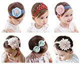 Qandsweat Baby Headbands with Hair Flower Accessories Little Girl's Hairband Mixed 6 Styles