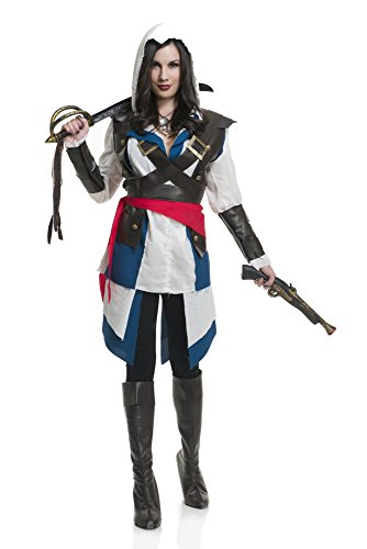 Charades Women's Cutthroat Pirate Girl Costume, As Shown, (Cross Dress Party Costume Ideas)