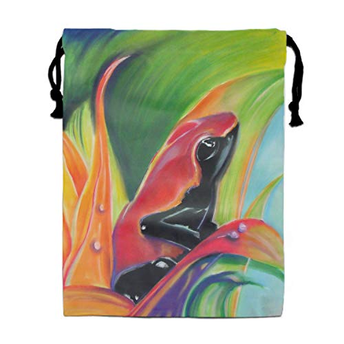 (Poison Frog Drawstring Gym Sport Bag, Lightweight Gym Bag for Men and Women 11.8 × 15.7