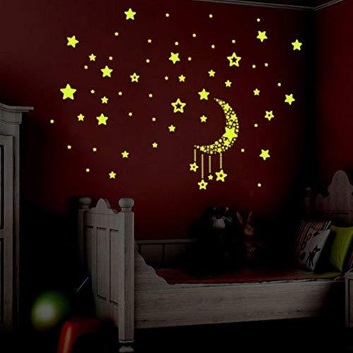 A Set Kids Bedroom Fluorescent Glow In The Dark Stars Wall Stickers (Handle Ceramic Wall)