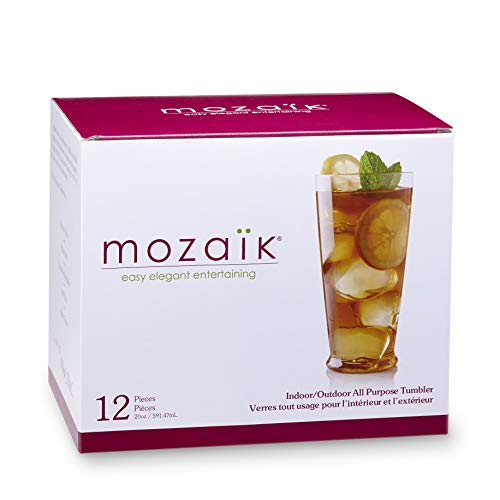 Mozaik Premium Plastic 20 oz. All-Purpose Drink Tumblers, 12 count