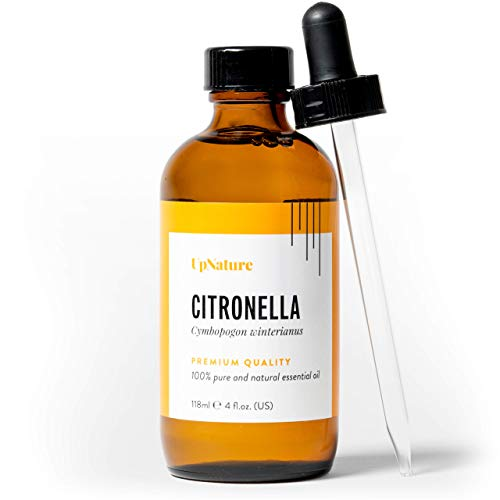 Citronella Essential Oil - Huge 4oz Bottle - Mosquito Repellent - Pure, Undiluted, Unfiltered, Non-GMO - Anti-fungal & Anti-inflammatory - Treat Colds, Fevers, Headaches