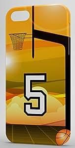 iphone covers Basketball Sports Fan Player Number 5 Clear Plastic Decorative Iphone 6 4.7 Case WANGJING JINDA