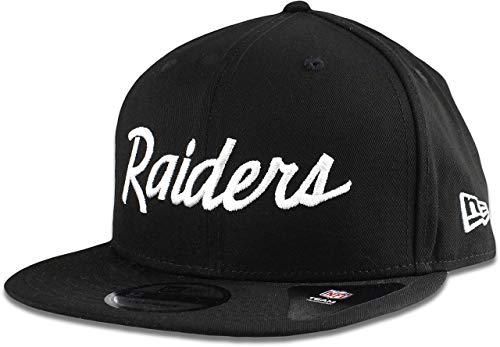 New Era Oakland Raiders Hat NFL Black White Script 9FIFTY Snapback Adjustable Cap Adult One Size