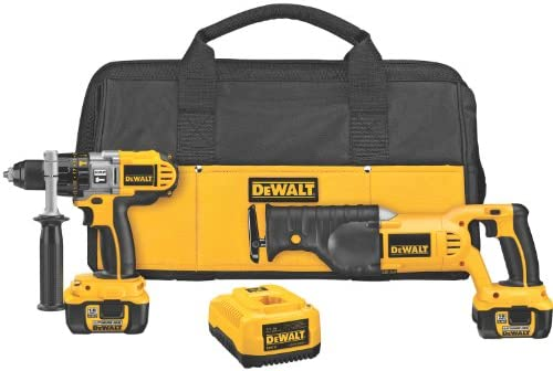 DEWALT DCK271L 18-Volt Cordless XRP Li-lon Hammerdrill and Reciprocating Saw Combo Kit