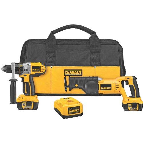 DEWALT DCK271L 18-Volt Cordless XRP Li-lon Hammerdrill and Reciprocating Saw Combo Kit