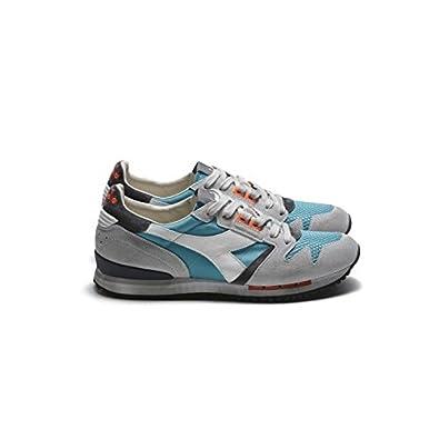 Diadora sneakers uomo pelle grigio azzurro nuovo Heritage Exodus art.c5150