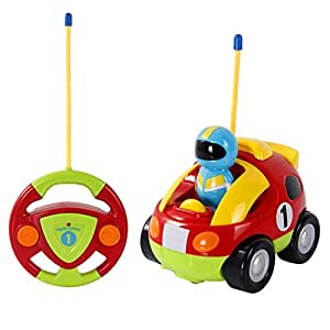 SGILE RC Police Race Car Train Toy with Light Music Radio for Toddlers Preschooler Baby