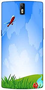 Snoogg An Airplane In The Sky Vecto Designer Protective Back Case Cover For O...