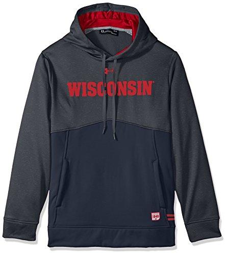 Under Armour NCAA Wisconsin Badgers Men's Sideline Fleece Hoodie, 3X-Large, Grey