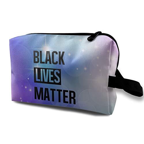 Uyikuvt Travel Toiletry Bag Black Lives Matter for Men & Women Cosmetic Organizer Makeup Bag Shaving Dopp Kits with Handle