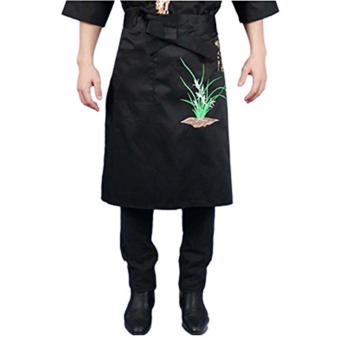 Korean Cuisine Japanese Sushi Aprons Chef Waist Apron Server Apron Restaurant Apron, 09 by George Jimmy