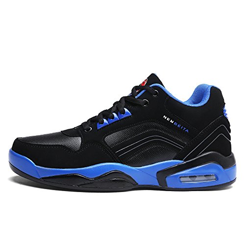 QZbeita Men's Sneakers Breathable Sport Shoes Basketball Shoe Running Shoes Blue iPYzyE15S4