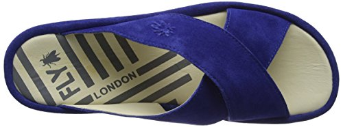 Fly London Blue Bleu Sandales Begs793fly Ouvert Bout Femme U1qUp