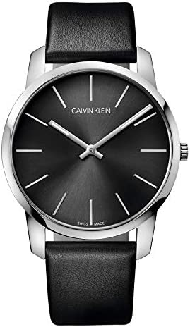Calvin Klein Men s Analogue Quartz Watch with Leather Strap K2G21107