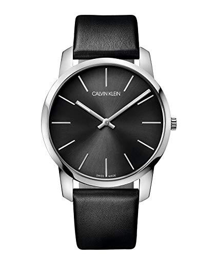 - Calvin Klein Men's Analogue Quartz Watch with Leather Strap - K2G21107