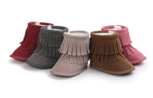 Pictures of Vanbuy Baby Double Fringe Leather Boots Infant 1
