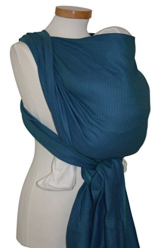 Storchenwiege Woven Cotton Baby Carrier Wrap (5.2, Leo Turquoise)