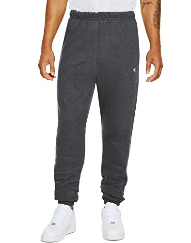 Athletic Heavyweight Sweatpants (Champion LIFE Men's Reverse Weave Pants With Pockets, Granite Heather/c Logo, X-Large)