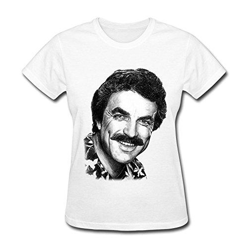 PAYYAND Women's Tom Selleck Magnum T-shirt M