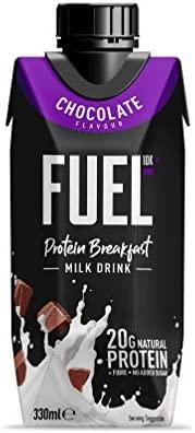 Batido para el desayuno de leche con chocolate FUEL10K con ...