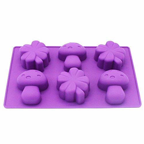 - X-Haibei Clover Mushroom Kids Soap Cake Jello Chocolate Crayon Making Silicone Mold