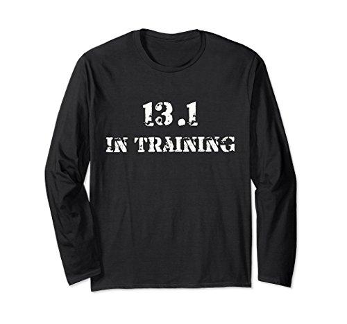 Marathon Training Runner (Unisex 13.1 In Training Runner T Shirt Half Marathon Race Running Medium Black)