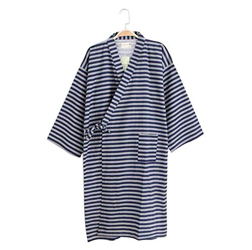 DRAGON SONIC Men's Japanese Style Short Kimono Robe Sleepwear Bathrobe(Thin),A13