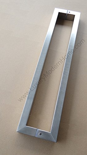 dh - 16'' Rectangular Tube Pull Shower Door Handle Square Stainless Steel 304 by LuxuryModernHome (Image #2)
